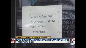 popular salon closes what about gift cards wcpo cincinnati oh