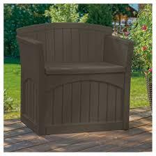 Suncast Patio Storage Bench Resin Storage Patio Seat 31 Gallon Java Brown Suncast Target