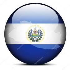 Salvadoran Flag Map On Flag Button Of Republic Of El Salvador U2014 Stock Vector