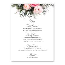 ethereal garden menu card invitations by