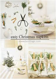 Easy Simple Christmas Table Decorations Simple Holiday Table Dressing With Cinnamon Greenery And Coastal