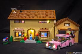 lego simpsons house set 71006 led lighting kit youtube