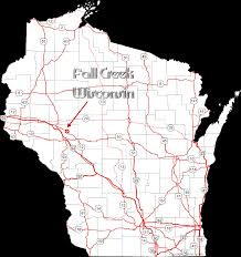Map Of Wi Fall Creek On Wisconsin A Wisconsin Map