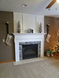fireplace makeover white beadboard traditional mantel