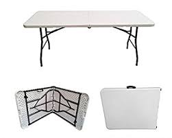 6 ft portable folding table 6ft folding table rectangular super tough folds in half with