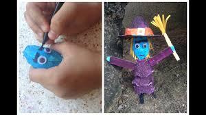 egg carton witch art u0026 craft idea for kids youtube