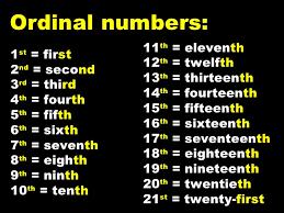 cardinal ordinal numbers