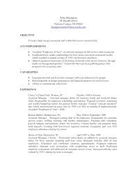 Maintenance Objective Resume Resume For Restaurant Job Resume For Your Job Application