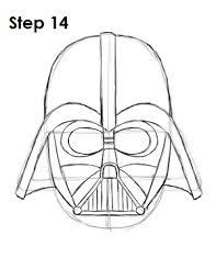 drawn masks darth vader pencil color drawn masks darth vader