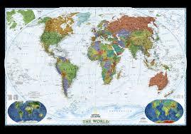 Us World Map by National Geographic United States U0026 World Political Map Combo Set