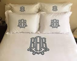 Monogrammed Comforter Sets Monogrammed Bedding Etsy