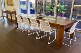 unique timber dining tables brisbane for home decor arrangement
