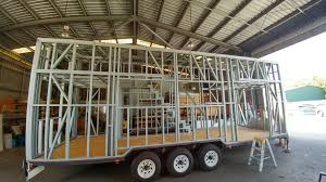 East Coast Tiny Homes by Tiny House Frame Our Tiny House Trailer Receives Its Steel Frame