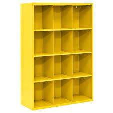 Desk Cubby Organizer Sandusky 52 In H X 46 In W X 18 In D Navy Blue 9 Cube Cubby