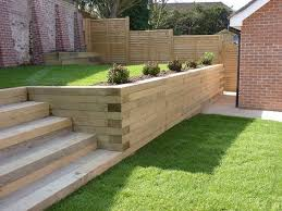 image result for sleeper retaining walls how to build retaining