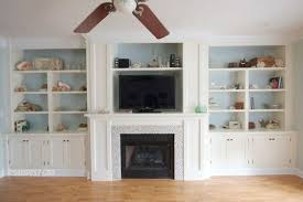Bookshelf Around Fireplace Fireplace Wall Built Ins Courtney Reveal For The Home