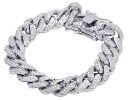 white gold jewelry bracelet images 10k 14k 925 silver and genuine diamond bracelets jpg