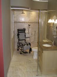 Handicapped Bathroom Showers Wheelchair Accessible Shower Bathroom Shower Base And Entry