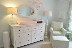 White Rocking Chair Nursery White Wooden Changing Table Dresser For Nursery With Many