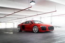 Audi R8 Modified - red audi r8 adv05c track spec cs series wheels adv 1 wheels