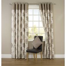 wilko molly floral eyelet curtains natural 117cm x 183cm living