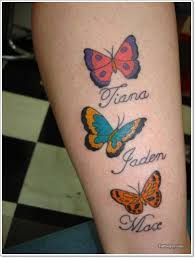 cool colorful butterflies with names on leg