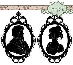 regency wedding invitations items similar to digital clipart silhouette regency