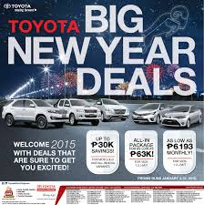 new toyota deals toyota big new year deals toyota manila bay the dealer of choice