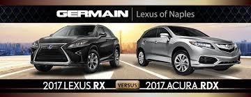 acura rdx vs lexus rx 2017 acura rdx vs 2017 lexus rx in naples fl