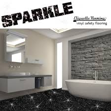 Black Sparkle Floor Tiles For Bathrooms Black Sparkle Safety Flooring Bathroom Floor Vinyl Lino Sparkly