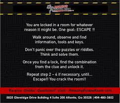 live escape game rules amazing escape room sandy springs
