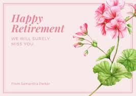 retirement card customize 42 retirement card templates online canva