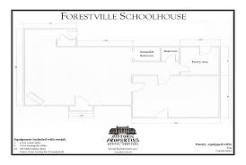 historic properties rental services forestville schoolhouse