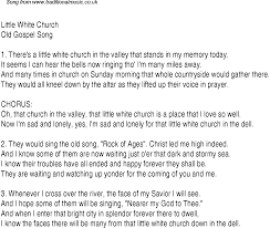 white church christian gospel song lyrics and chords