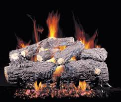 Fireplace Gas Log Sets by Real Fyre Burnt Rustic Oak Complete Gas Log Set 24 Inch Inch