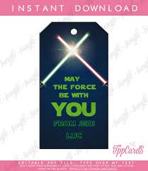 wars party favors wars party favor tags or thank you tags birthday party favors
