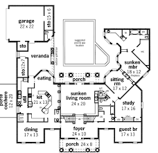 luxury house plans with pools ranch house plans with porte cochere luxury house plans with porte
