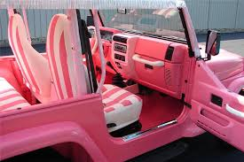 white and pink jeep 2000 jeep wrangler convertible81715