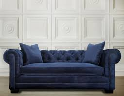 deep blue velvet sofa furniture elegant leather tufted sofa for home furniture ideas