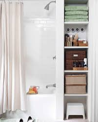 Shower Storage Ideas by Smart Space Saving Bathroom Storage Ideas Martha Stewart