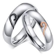 steel promise rings images Heart design titanium steel gemstone promise ring for couples jpg
