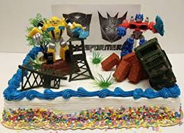 optimus prime cake topper transformers 10 birthday cake topper set featuring bumblebee
