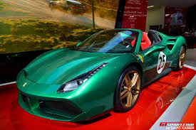 ferrari spider paris 2016 ferrari 488 spider u201cthe green jewel u201d gtspirit