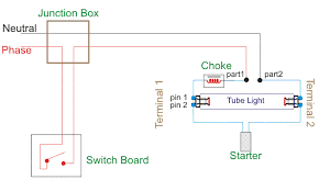 wiring diagram for a single tube light circuit electrical4u