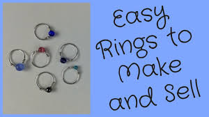 make metal rings images Wire rings to make and sell diy jewelry making tutorial jpg