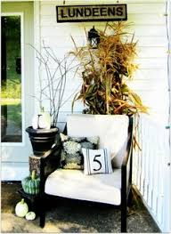 Fall Decorated Porches - 6 autumn tablescapes beautiful shabby and chairs