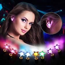 light up earring studs led earring light up bright stud earrings glowing ear stud