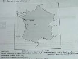 Nantes France Map by Pis Vadodara Std 9 Map Of French Revolution