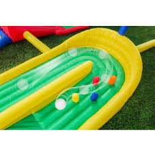 banzai inflatable 5 hole mini golf course backyard adventure park