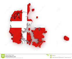 three dimensional map of denmark royalty free stock images